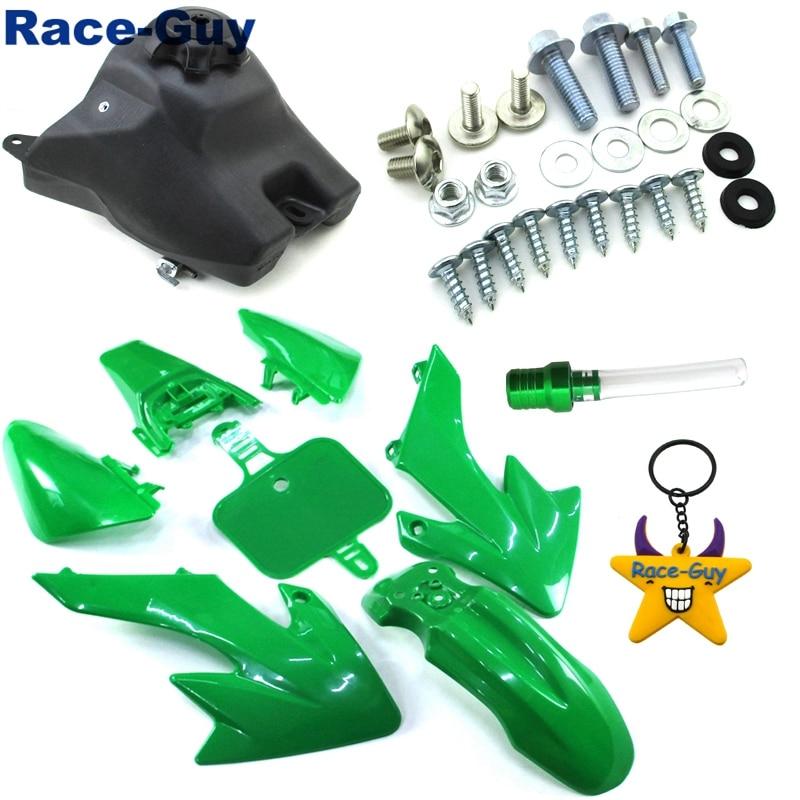 Race-Guy Red Fairing Plastic Fender Bolt Screws Kits Throttle Grips For Honda CRF50 XR50 Pit Bike 50cc 70cc 90cc 110cc 125cc 150cc 160cc