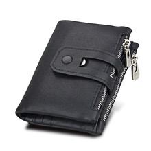 Men's Stylish Short Leather Wallet without Pattern