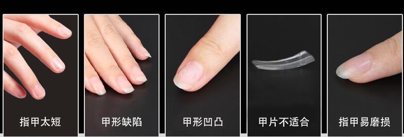 cobertura completa pontas das unhas de acrílico