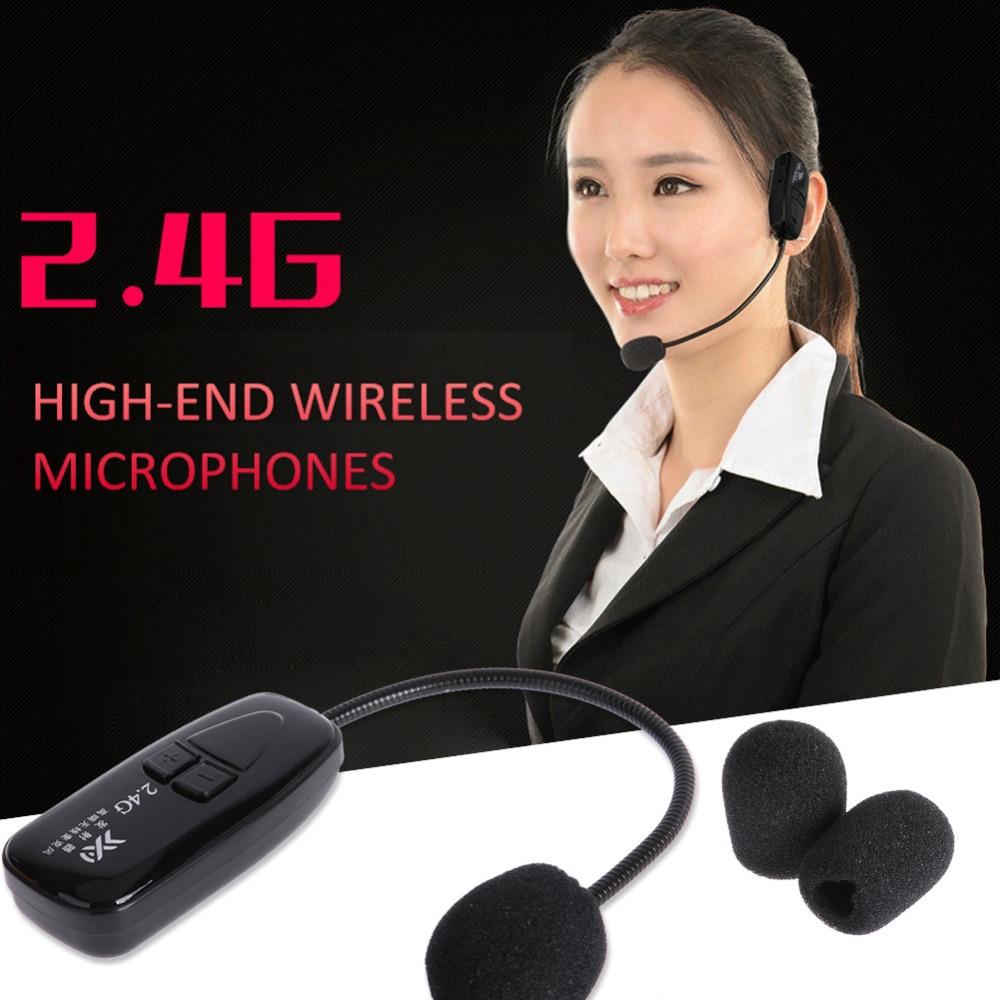 2.4G Micrófono Inalámbrico Speech Headset Megáfono Radio Mic Para - Audio y video portátil