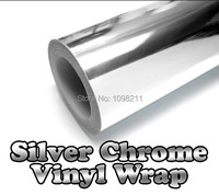 24 X60 600mmm X 1520mm Silver Chrom Air Bubble Free Mirror Gloss Vinyl Wrap Film Sticker
