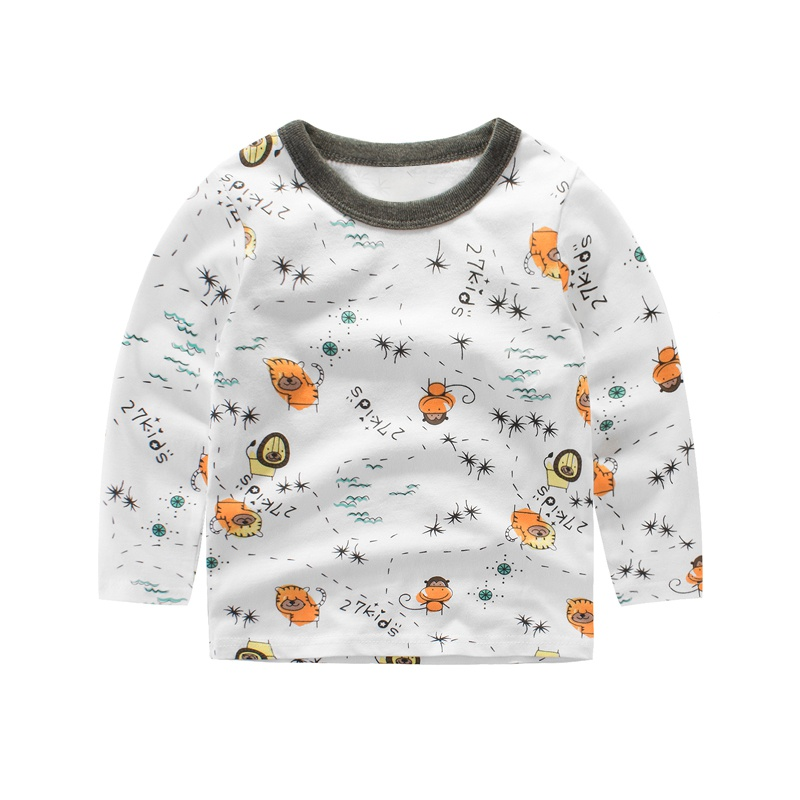 Winter Autumn Kids Boys Sweater Animal print Long Sleeve Baby Girls Casual Shirts Cotton Childrens Pullover Tops