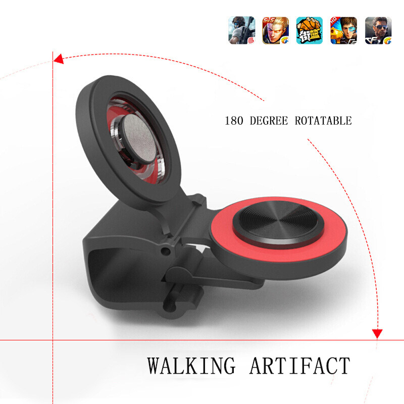 Image 2 - Round Suction Cup Mobile Phone Walking Artifact Game Joystick For Iphone Android Tablet Metal Button Controller A9-in Gamepads from Consumer Electronics