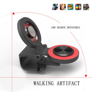 Image 2 - Round Suction Cup Mobile Phone Walking Artifact Game Joystick For Iphone Android Tablet Metal Button Controller A9