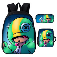 3PCS/Set Brawl Stars Shoulder Bag For Children Boys Girls Casual School Bag Cute Game Cartoon Laptop Bagpack Dropshipping