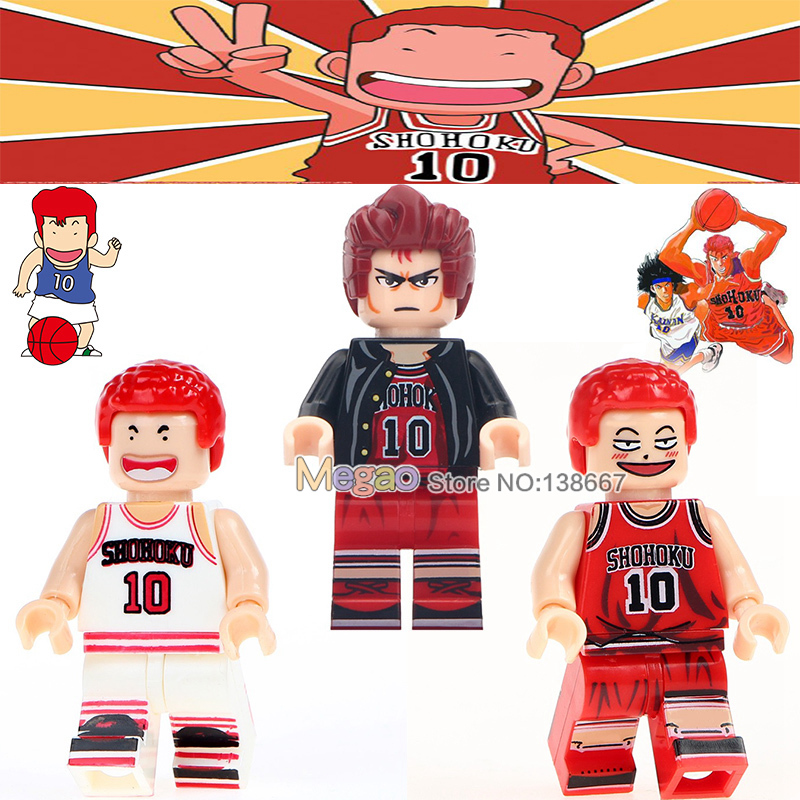 Toys & Hobbies Single Sale Legoingly Hanamichi Sakuragi Red Hair Anime Basketball Super Stars Building Blocks Figures Toys For Children Gifts Meticulous Dyeing Processes