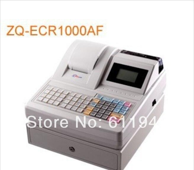 Low cost! 1 pcs ZQ-ECR1000AF electronic cash register / all-in-one fastfood cash register