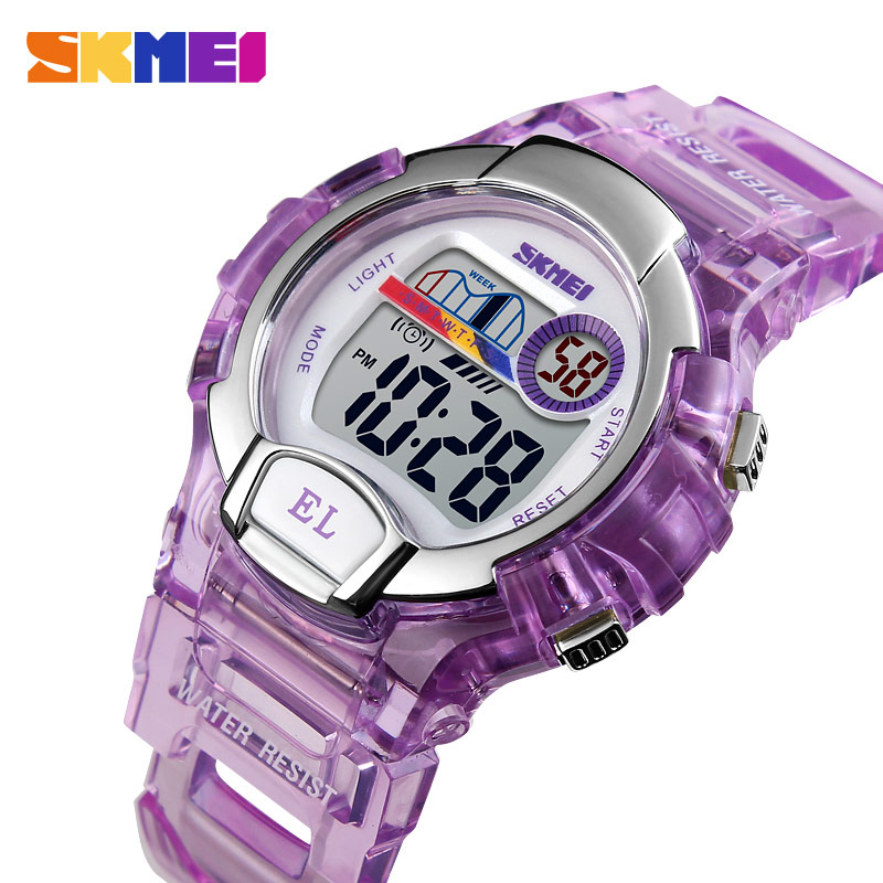 SKMEI Sport Kids Watch Girls Student Gifts Waterproof Alarm Clock Stopwatch Timing Watch LED Luminous Digital Watch Reloj