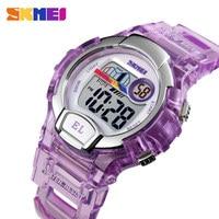 SKMEI Sport Kids Watch Girls Student Gifts Waterproof Alarm Clock Stopwatch Timing Watch LED Luminous Digital Watch Reloj