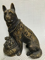 Chinese Copper sculpture wolf dog Statue statues for decoration Home Decorations