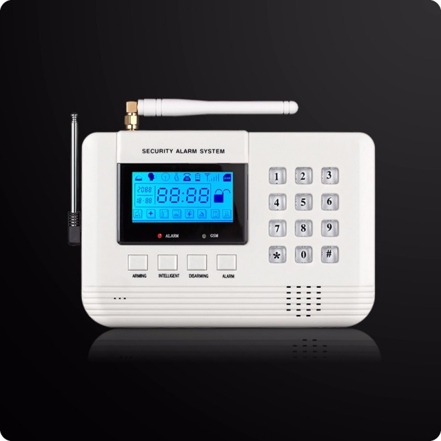 Wireless LCD GSM PSTN Alarm 433Mhz House Home Burglar Security 850/900/1800/1900 Mhz Wireless PIR Detector Sensor