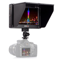 New 7'' Clip on HD LCD HDMI AV Input 4K Camera Video Monitor Display for Canon Nikon DSLR BMPCC