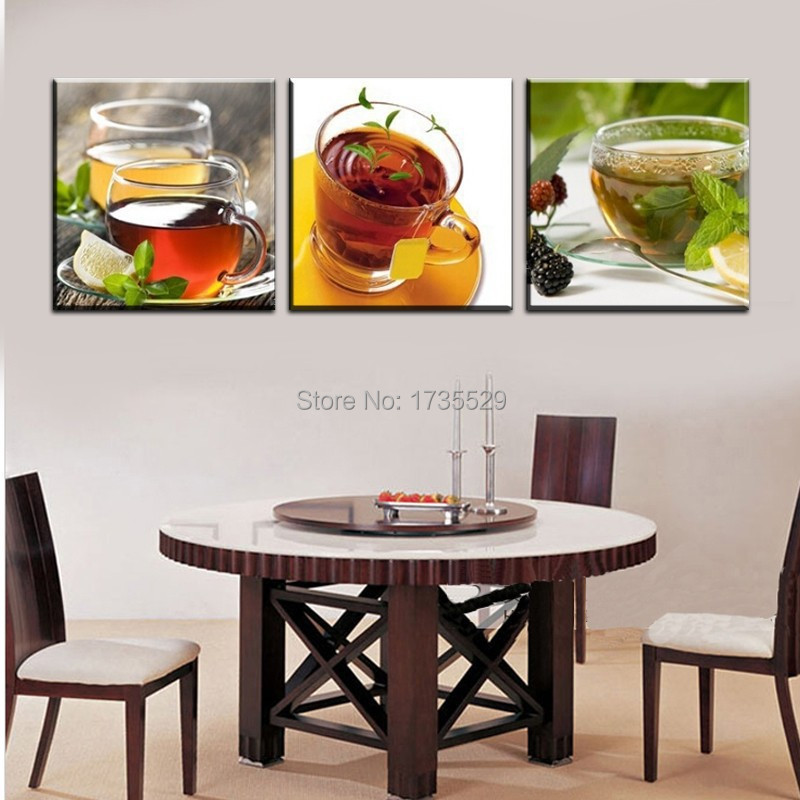 3 piece large cheap canvas wall art modern kitchen coffee - Kitchen canvas wall decor ...