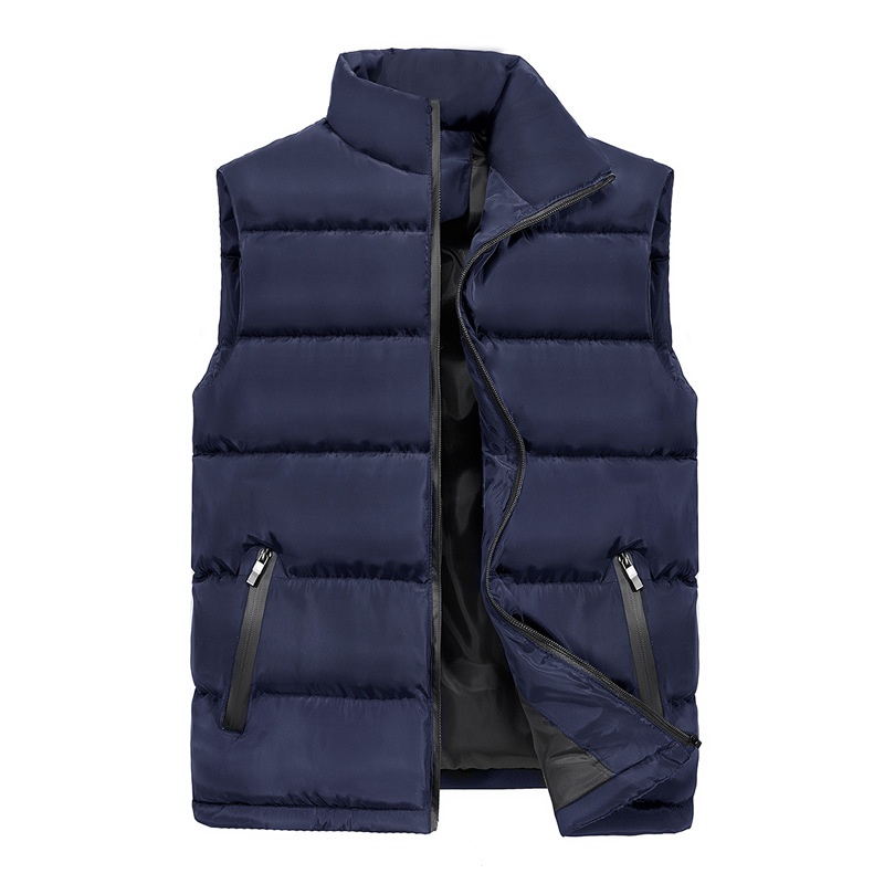 Rlyaeiz New Arrivals Casual Vest Waistcoat 2018 Autumn Winter Mens Jacket Sleeveless Vest Male Down Cotton Thick Warm Vests 5XL