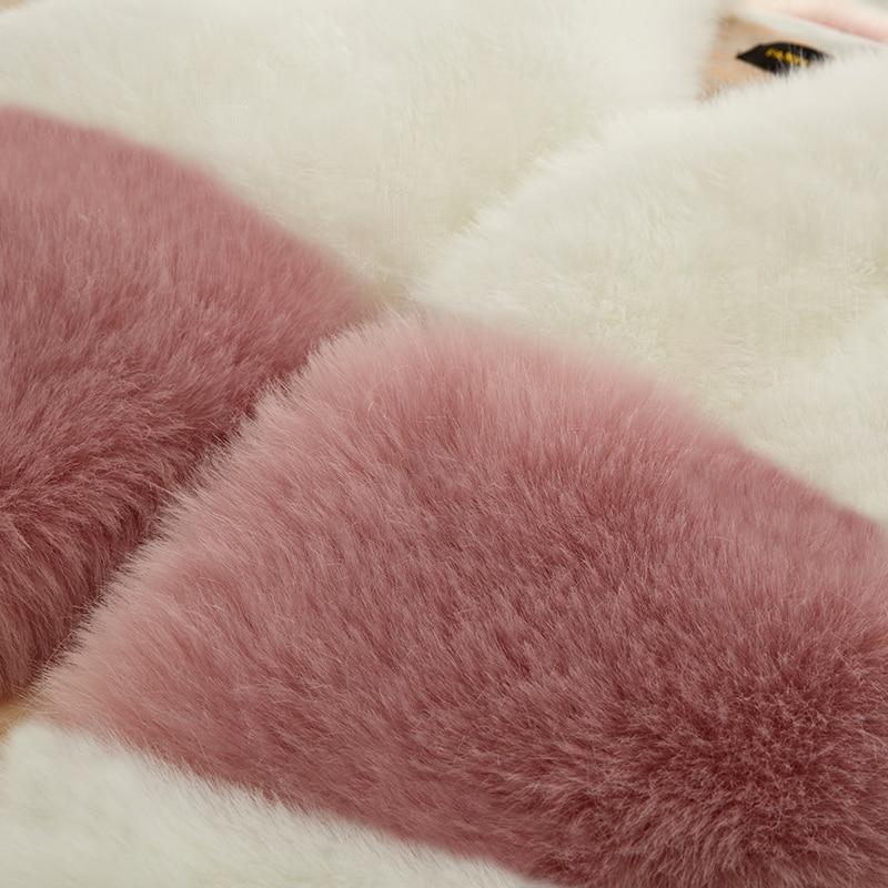Femmes Manches Sans Furry Gilet Vest Fourrure pink Chaud De Épais Veste Doux Manteaux Mignon black Luxe Rose Vest 2018 Fur Vest White Hiver Femme Renard Femelle Faux c6gyWSqUy