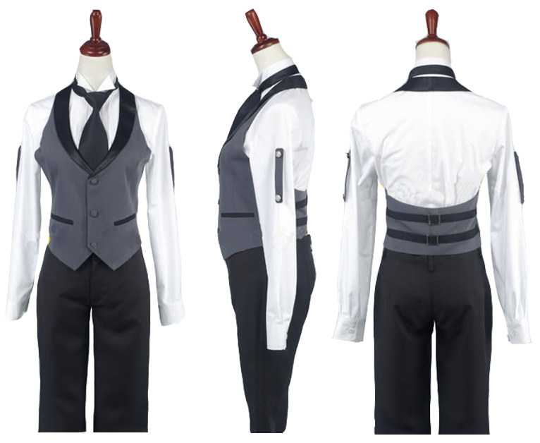 Black Butler Sebastian Michaelis Cosplay Costume Adult Women Boy Halloween Carnival Costume