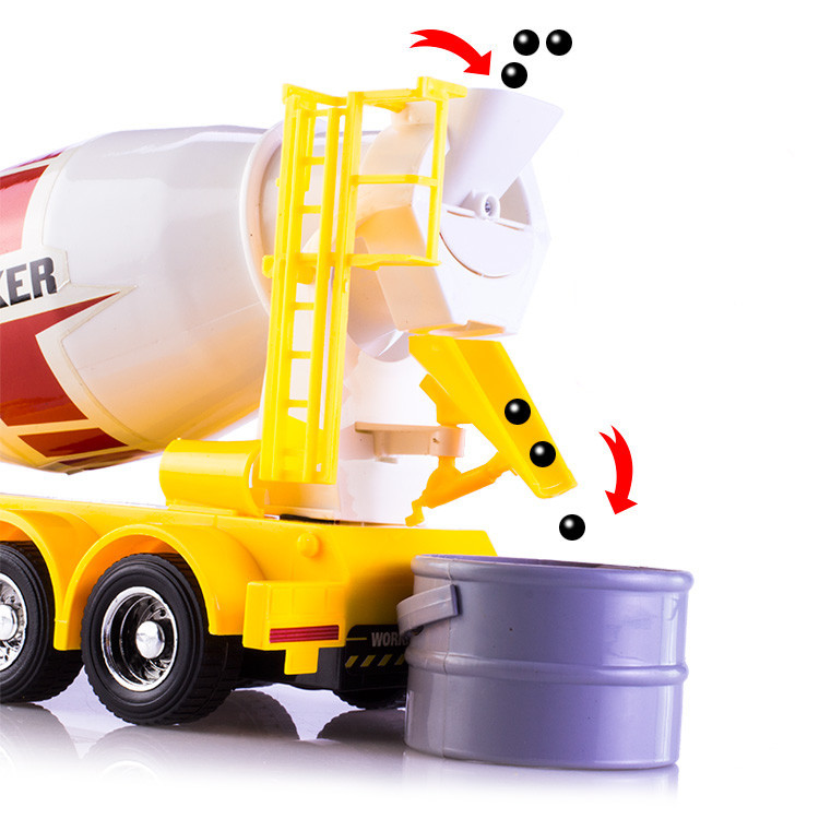 Elektrische Fahrzeuge Spielzeug Freies Verschiffen Leucht Modell 7 Kanal Engineering Fahrzeuge 1:24 Fernbedienung Lkw Drahtlose Steuerung