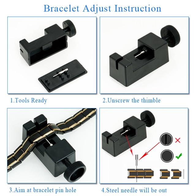 Black 316L Stainless Steel Men's Magnetic Health Bracelets & Bangles 5