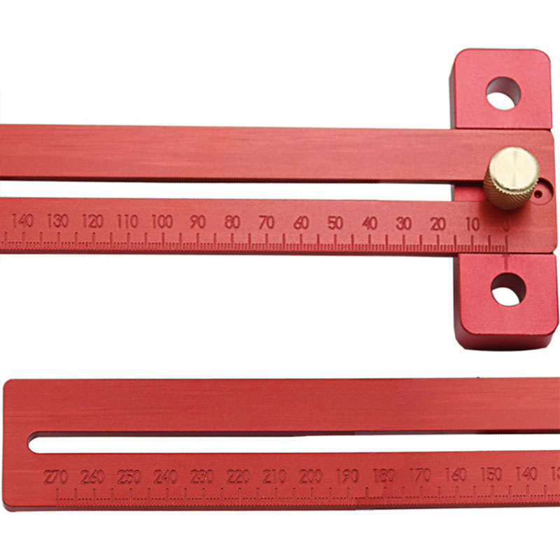 Hot Aluminum Alloy Crossed Ruler Woodworking T Type Scribe Woodworking Ruler Drop Shopping