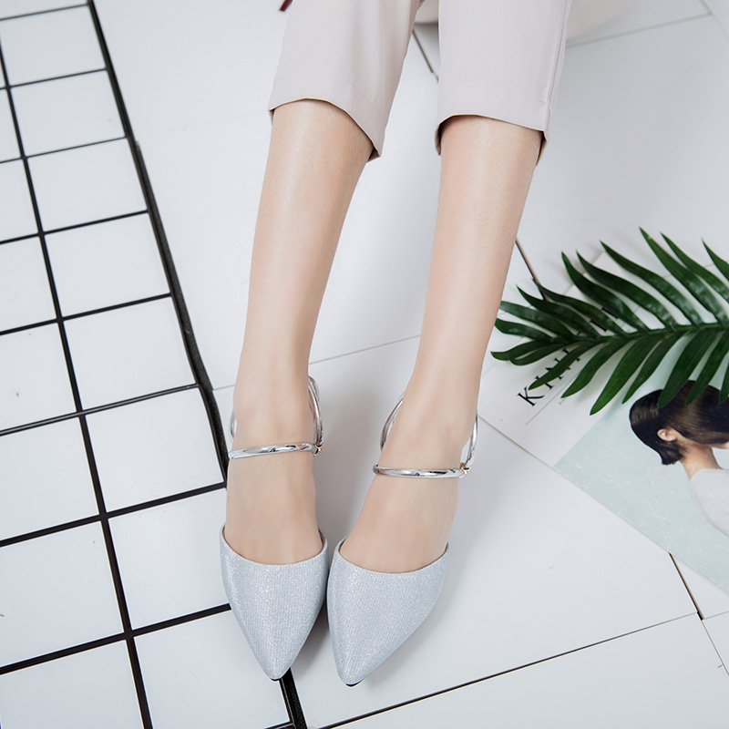 Kjstyrks 2018 Summer Women Bling Slides Half Slippers Med Heels Velvet  Mules Shoes Woman Pinted Toe -in Slippers from Shoes on Aliexpress.com  d33c77e72961