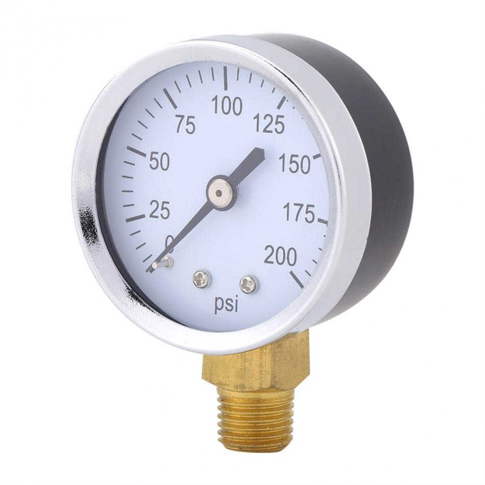 0 200psi Pressure Gauge Manometer Pressure Measuring Tools For Fuel ...