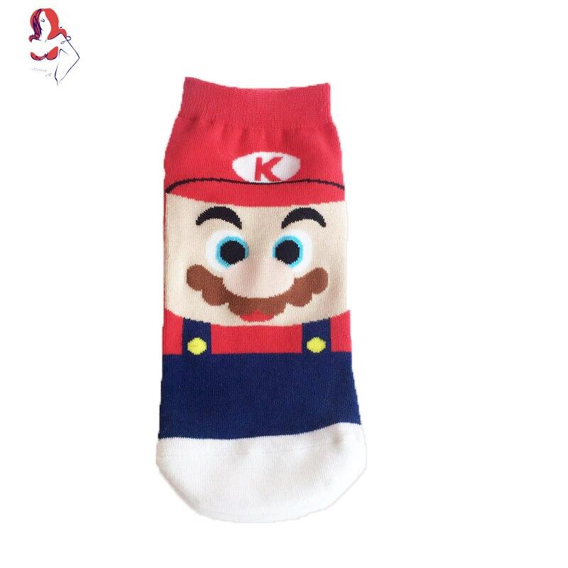 UCHIHA LQ Compression Socks 2017 New Creative Mario Cartoon Trusox 1Pair/lot Sokken Met Fiets Running Socks Woman