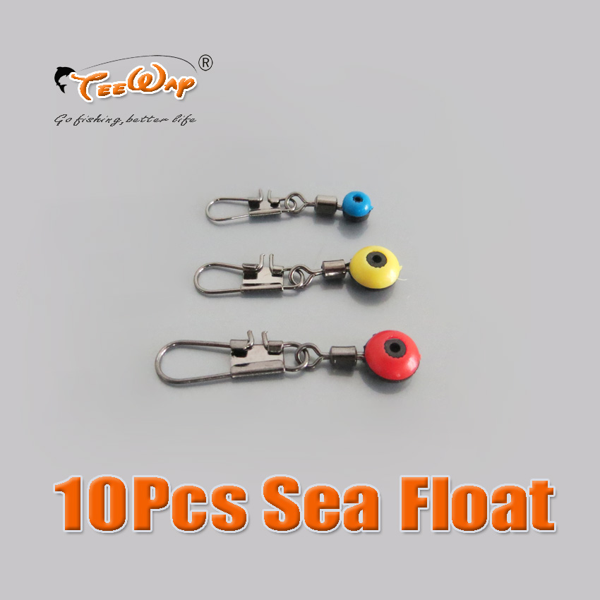 10pcs/lot sea fishing float ocean space bean,float connecter with rolling swivels+safety pin can put in fishing tackle boxes