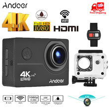 """Andoer AN200 4K Action Camera 16MP 1080P Full HD 4X Zoom 2"""" 170 Wide Angle Waterproof 30m Slow Motion WiFi Sports Action Camera"""