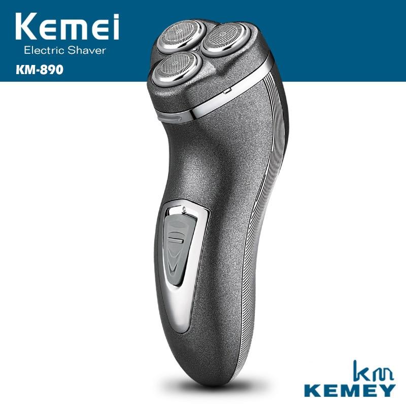 Kemei 100 240 V recargable Afeitadora eléctrica para hombres flotantes  eléctrica Maquinillas de afeitar barba trimmer afeitar en Espuma de afeitar  de ... 6d293e08453f