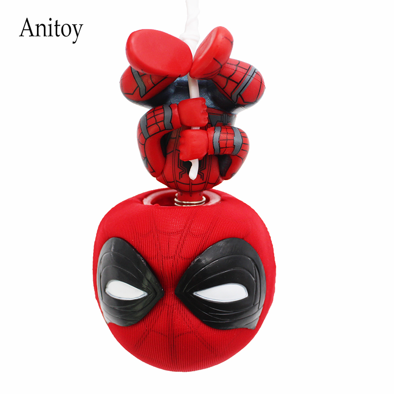 Q Version Mini Spiderman Marvel Spider-Man Homecoming PVC Action Figure Collectible Toy Doll 17cm KT4210  funko pop official spider man homecoming spiderman new suit vinyl action figure collectible model toy with original box