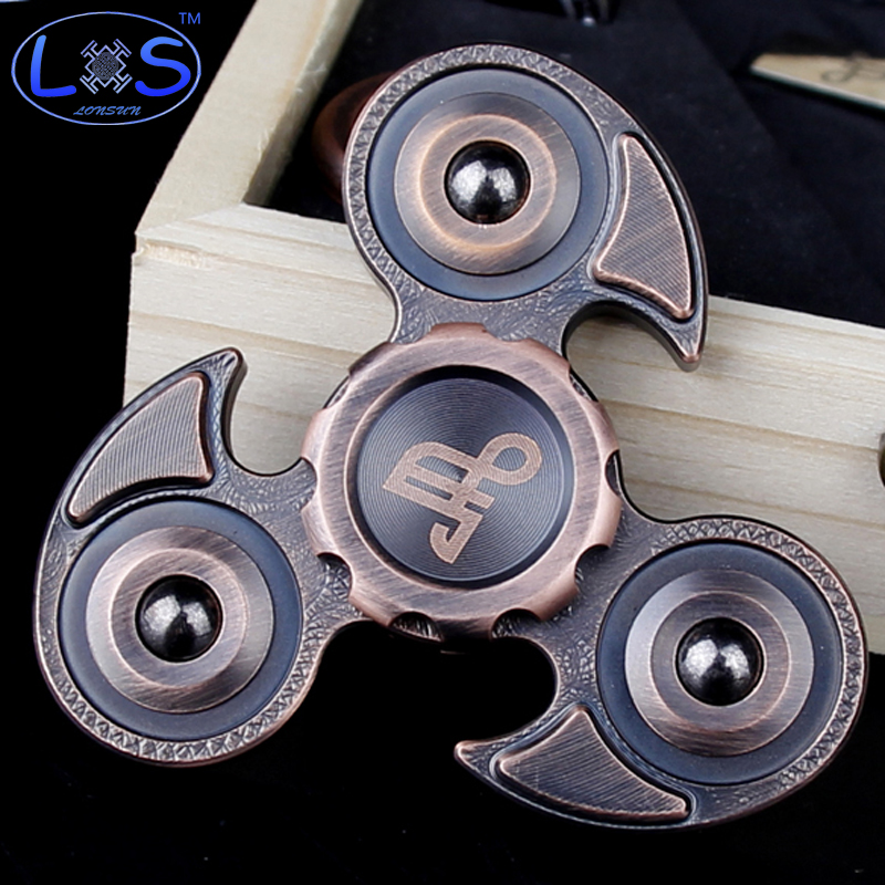 New Pure copper Material EDC Fidgets Spinner toy Hand Spinner For Autism And ADHD Spinning Top Stress Spinner Toys new style edc round three corner camouflage hand spinner for autism and adhd anxiety stress relief focus toys