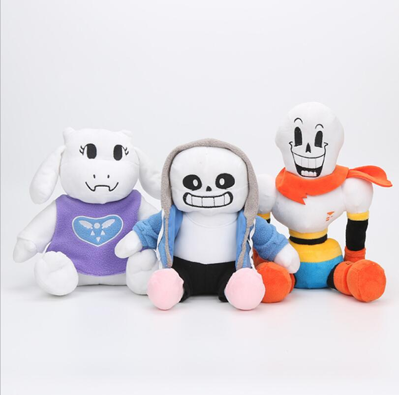 New 3styles Undertale plush Papyrus Undyne Alphys MTT SANS flower Miss Spider Toys Animation Plush Dolls Kids birthday gift 1pcs undertale plush toy 20 35cm undertale sans papyrus frisk chara temmie undyne plush stuffed toys doll gift for children kids