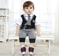 2017 New Year Boy Set Boy Clothing Fashion Set Vest Trousers Kids Baby Boy Clothing Boy Work Wear Children's Clothing