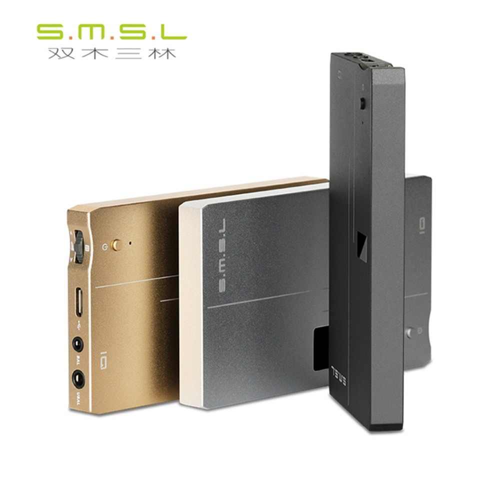 SMSL IQ USB MINI HiFi przenośny wzmacniacz dekodujący DAC DSD512 XMOS U208 wzmacniacz słuchawkowy