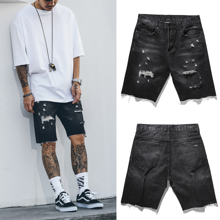 Online Get Cheap Distressed Shorts Men Black -Aliexpress.com ...