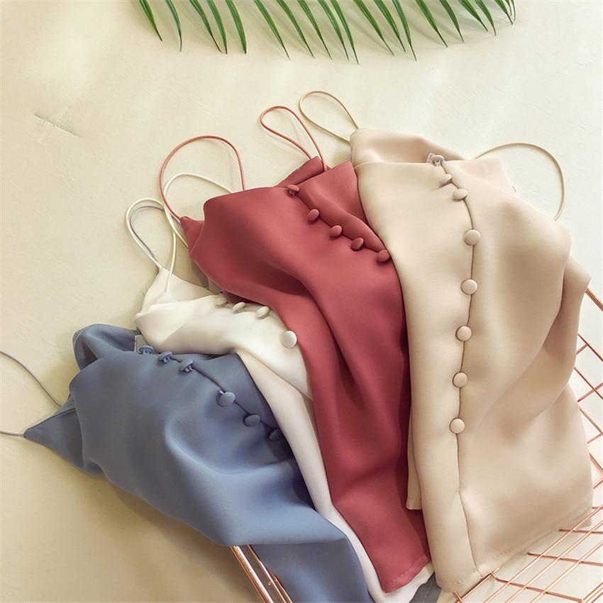 New Fashion Plus Size Women Based Vintage Satin Vest Lady V-neck Silk Tank Sleeveless T-Shirt Summer Outfits Slim Tops WZ813