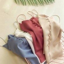 New Fashion Plus Size Women Based Vintage Satin Vest Lady V neck Silk Tank Sleeveless T Shirt Summer Outfits Slim Tops WZ813
