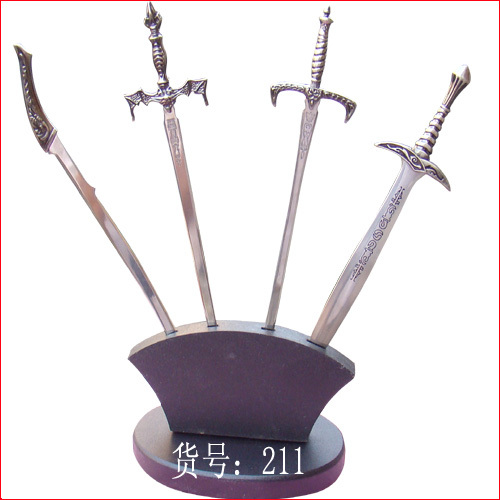 s4840 lord of the rings envelop letter opener miniature knife sword w stand 75