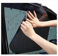 Wholesale High Quality 2PCS Car Side Window Protection Static Cling Sun Block Sunshade Cover Shield Screen Visor Black 42x38cm