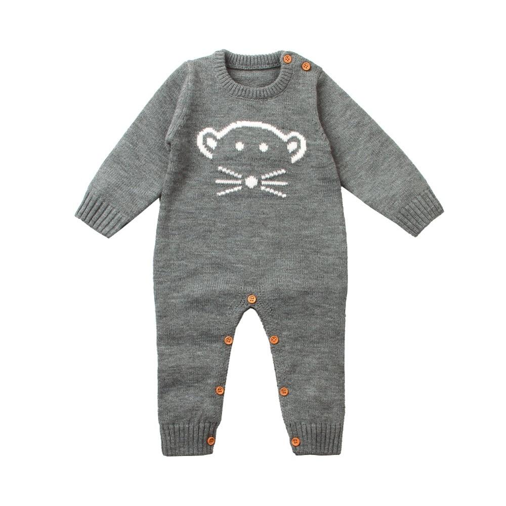 c611b7f136b 2018 νέα μπουφάν μωρό πλεκτά Jumpsuits αγόρι ένα κομμάτι κορίτσι ...