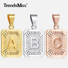 High Quality Mens Womens 18K Yellow Gold Filled Pendant Square pendant w Capital Letter Fashion Design Wholesale GP37