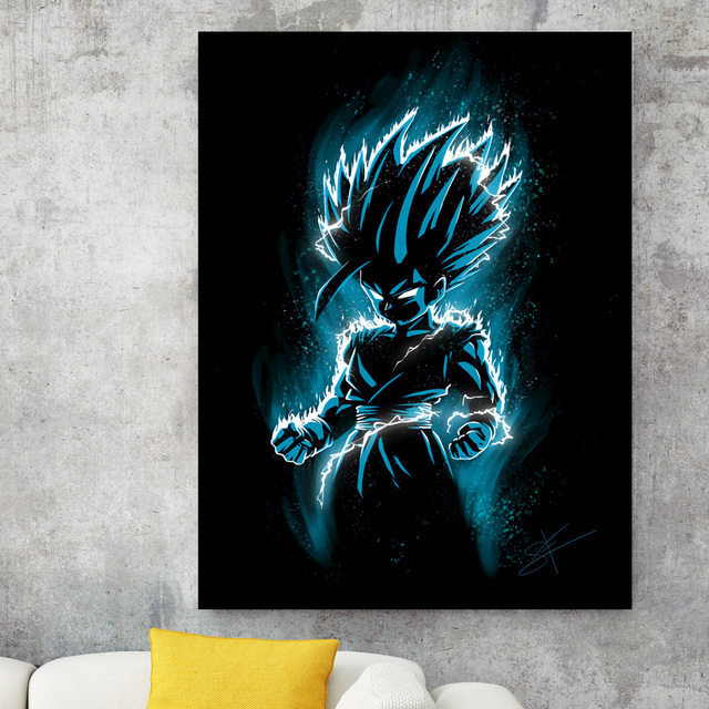 Nordic Style Canvas Painting Print Anime Seven Dragon Ball Poster Home Decor Wall Art Picture Watercolor For Living Room Modular