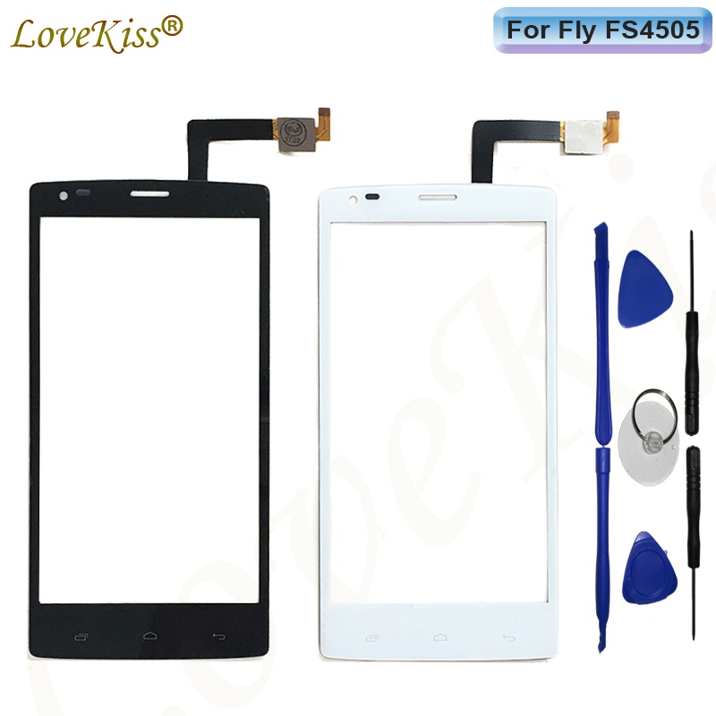 5 Front Touch Panel Touchscreen For Fly IQ4505 Quad Era Life 7 IQ 4505 Touch Screen Sensor Digitizer LCD Display Glass Repair