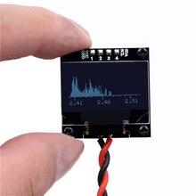 جهاز تحليل عرض الطيف الموسيقي الصغير OLED 2.4G جهاز MP3 مؤشر مستوى الصوت مؤشر إيقاع الموسيقى