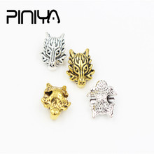 10Pcs/Lot Vintage 13*18mm DIY Making Silver Dragon Head Spacers Beads Charms For Jewelry Bracelet Necklace