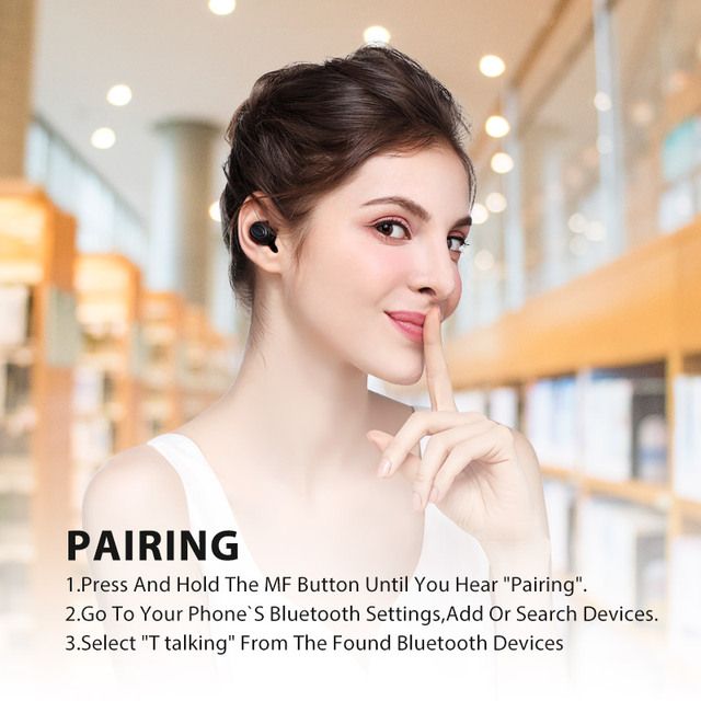 Bluedio T-talking Bluetooth earphone for sport/ Wireless earbuds  in-ear with built-in microphone with voice control nice bass