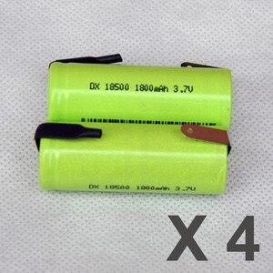 4PCS 3.7V 18500 battery 1800ma