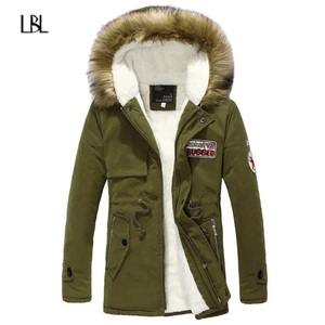 Image 3 - Men Winter Casual Jacket Parka Mens Slim Thicken Fur Hooded Outwear Warm Coat Male Hooded Brand Clothing Man Solid Long Parkas