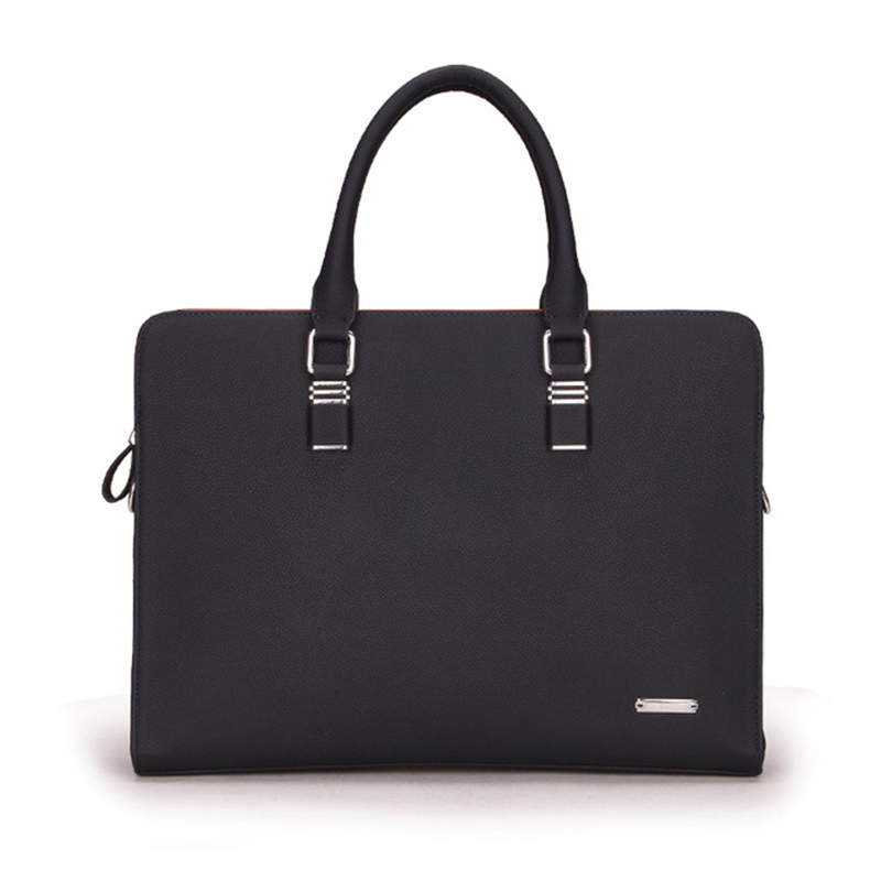 Mens Genuine Leather Simple Design Solid Color Classic Business People Computer Large Capacity Aircraft High Quality HandbagMens Genuine Leather Simple Design Solid Color Classic Business People Computer Large Capacity Aircraft High Quality Handbag