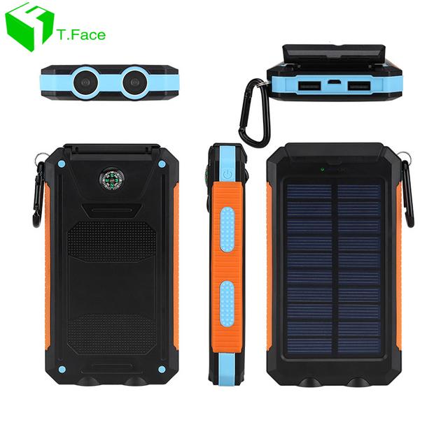 Banco de la Energía Solar Cargador de batería Universal Externa powerbank Portátil de Alta Capacidad Solar cargador solar